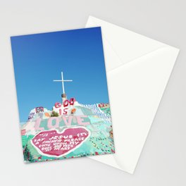 Salvation Mountain in the Californian Desert Stationery Cards