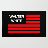walter white Area & Throw Rugs featuring Walter White by Spyck