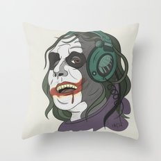 Joker illustration Throw Pillow