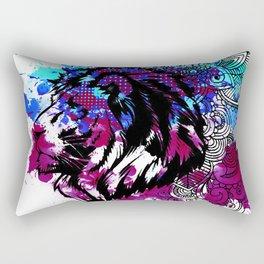Purple Lion Spirit Rectangular Pillow