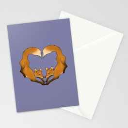 Heartful Foxes Stationery Cards