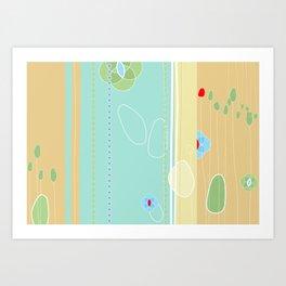 izzy may's garden Art Print