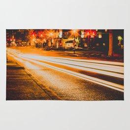 Time Lapse / Photography / Streetlights / Night Rug