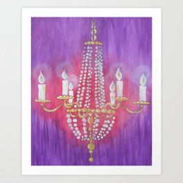Purple Chandelier Art Print
