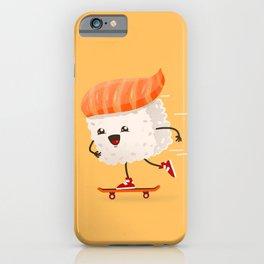 Kawaii sushi skateboarding iPhone Case