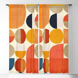 geometric abstract shapes autumn Blackout Curtain