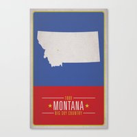 montana Canvas Prints featuring MONTANA by Matthew Justin Rupp