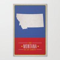montana Canvas Prints featuring MONTANA by Matthew Justin Rupp