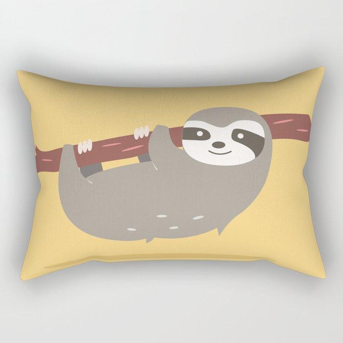 Sloth card - Am I late? Rectangular Pillow