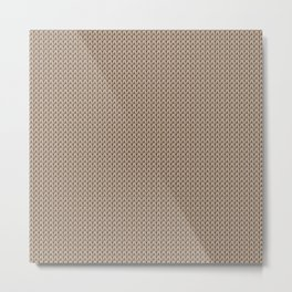 Knitted spring colors - Pantone Hazelnut Metal Print