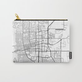 Boulder Map, USA - Black and White Carry-All Pouch