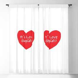 Love Funny Concept Illustration Blackout Curtain