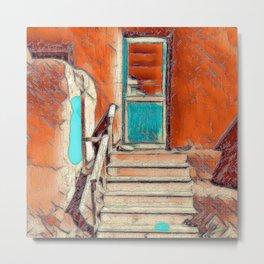 Pueblo Door and Steps Metal Print
