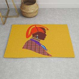 kenyan massai warrior artwork atalanta creatives design Rug