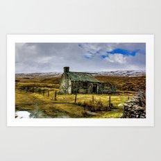 Derilict in the Yorks Dales Art Print
