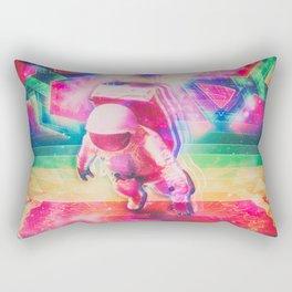 Psychedelic Astronaut Rectangular Pillow