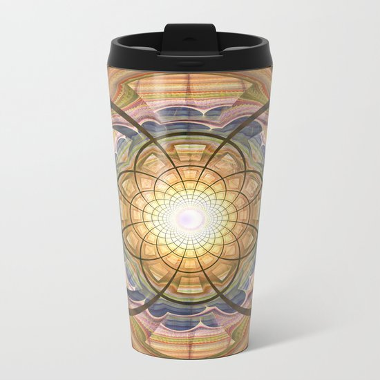Groovy mandala with wild patterns Metal Travel Mug