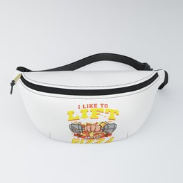 I Like To Lift Weights And Eat Pizza Bodybuilding Fanny Pack