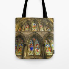 Rochester Cathedral Stained Glass Windows Art Tote Bag