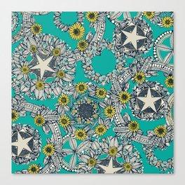 cirque fleur turquoise stone star Canvas Print