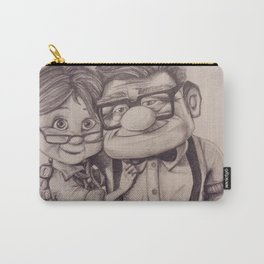 carl and ellie A Hug Carry-All Pouch