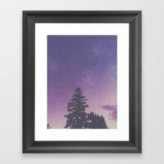 Purple Pines Framed Art Print