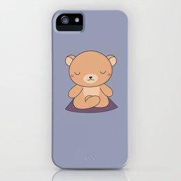 Kawaii Cute Yoga Bear iPhone Case