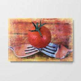 A Tomato Sketch Metal Print