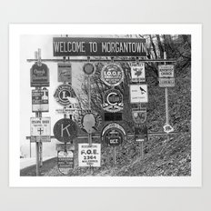 Welcome to Morgantown Art Print