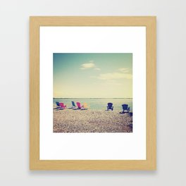 Kayak Watchers Framed Art Print