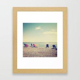 Kayak Watchers Framed Art Print