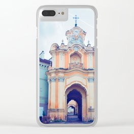 Ancient Basilian gate in the Old city in Vilnius Clear iPhone Case