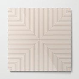 Angular Lines XVI Metal Print