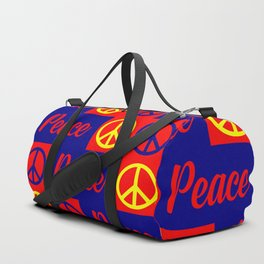 peace pattern Duffle Bag