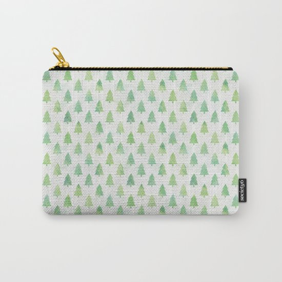 Simple Pine Tree Forest Pattern Carry-All Pouch