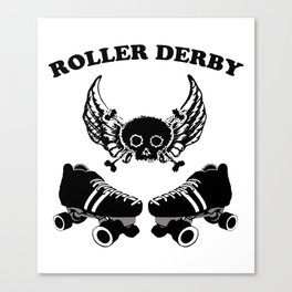 Roller Derby Wings Canvas Print