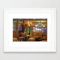 central perk Framed Art Prints featuring Central Perk by voxavila