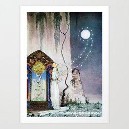 12,000pixel-500dpi - Kay Nielsen - Lassi Opens The Forbidden Open Door And Escapes The Moon Art Print