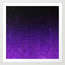 Purple & Black Glitter Gradient Art Print