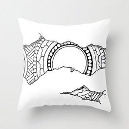 Ripped Mandala Throw Pillow