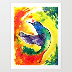 Full Spectrum - Rainbow Hummingbird Art Print
