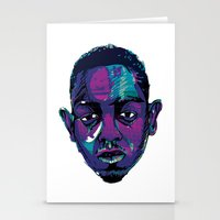 kendrick lamar Stationery Cards featuring Control - Kendrick Lamar by SmartyArt Chick