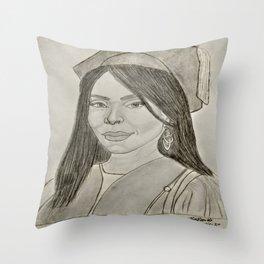 Angela Bassett by Ryan Reynolds Throw Pillow