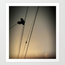 Even angels lose their shoes.  Art Print