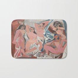 Pablo Picasso's Les Demoiselles d'Avignon Bath Mat