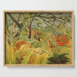 Henri Rousseau - Tiger In A Tropical Storm Serving Tray