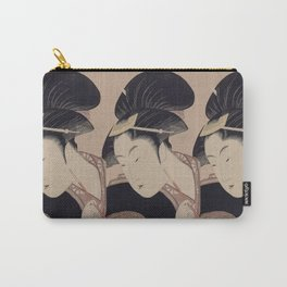Vintage Japanese Ukiyo-e Woodblock Print Woman Portrait III Carry-All Pouch