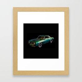 1969 Camaro By Annie Zeno Framed Art Print