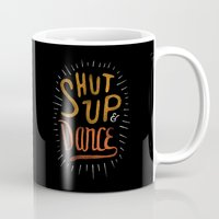 dance Mugs featuring Dance by skitchism