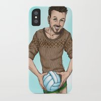 volleyball iPhone & iPod Cases featuring volleyball guy by Boroda